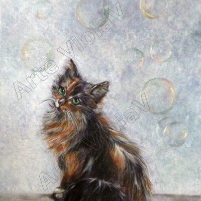 © arte violav ritratto di gatto