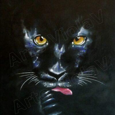ritratto pantera nera