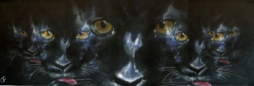 pantera nera arte violav
