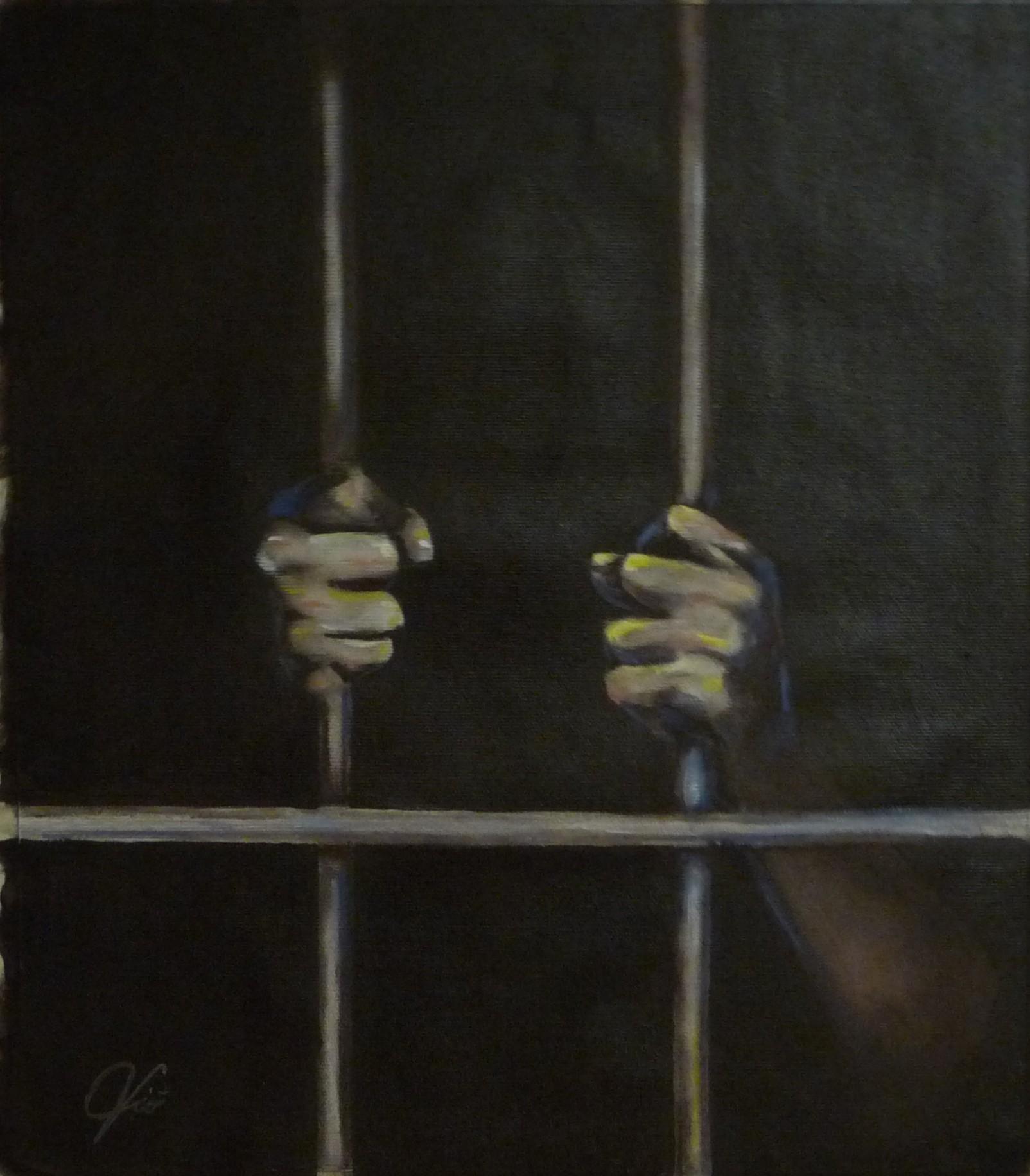 La speranza oltre prigione di violetta viola arte violav