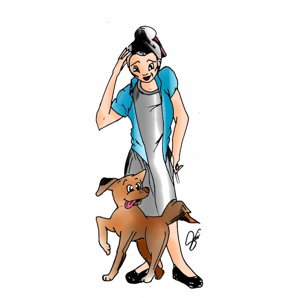 illustrazione spinone arte violav