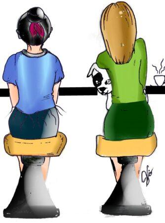 illustrazione-madre-e-figlia-e-chihuahua