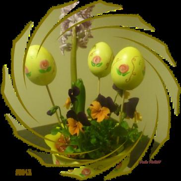 uova decorate riciclo creativo idee arte violav