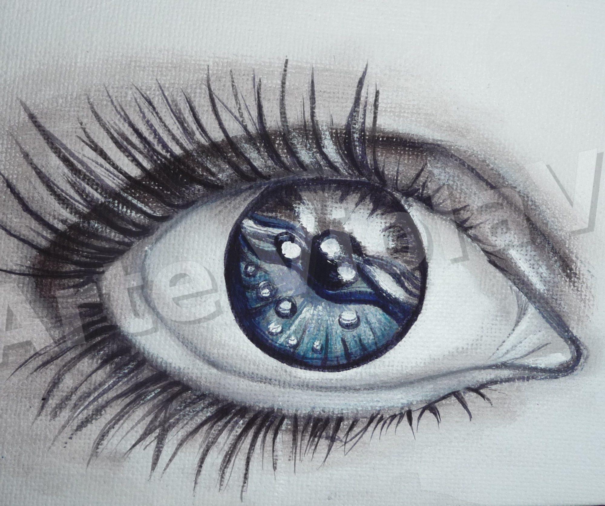 in uno sguardo dipinto di Violetta Viola arte ViolaV