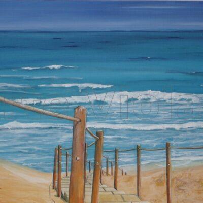 mare di sardegna spiaggi di scivu dipinto di Violetta Viola arte violav