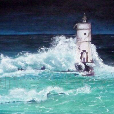 Oceano (un faro nella tempesta) arte violav di violetta viola