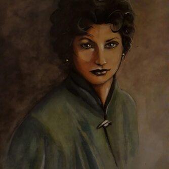 Ritratto di donna arte violav di violetta viola