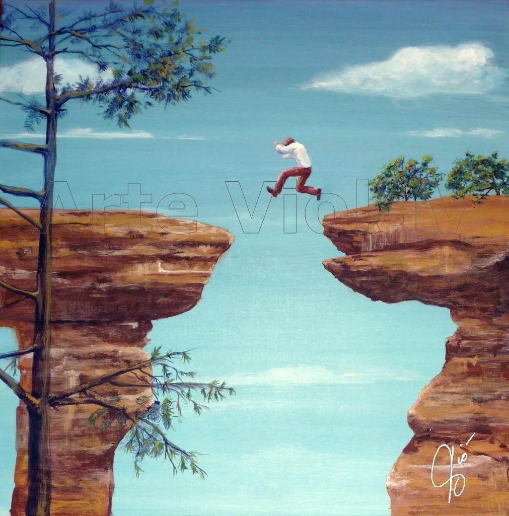 Jump dipinto di Violetta Viola Arte ViolaV