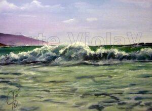 Mare dipinto di Violetta Viola arte ViolaV (onda)