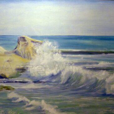 Mare mosso dipinto di Violetta Viola Arte ViolaV
