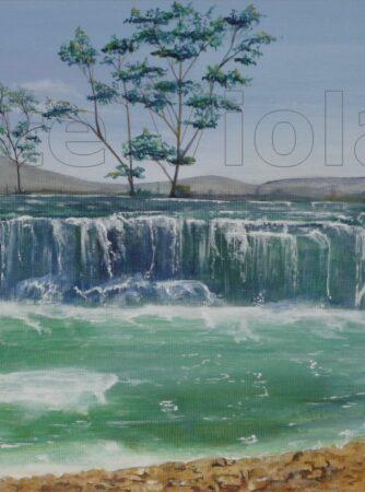 Medjugorje cascata dipinto di Violetta Viola arte ViolaV