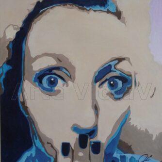 Micol ritratto di Violetta Viola Arte ViolaV