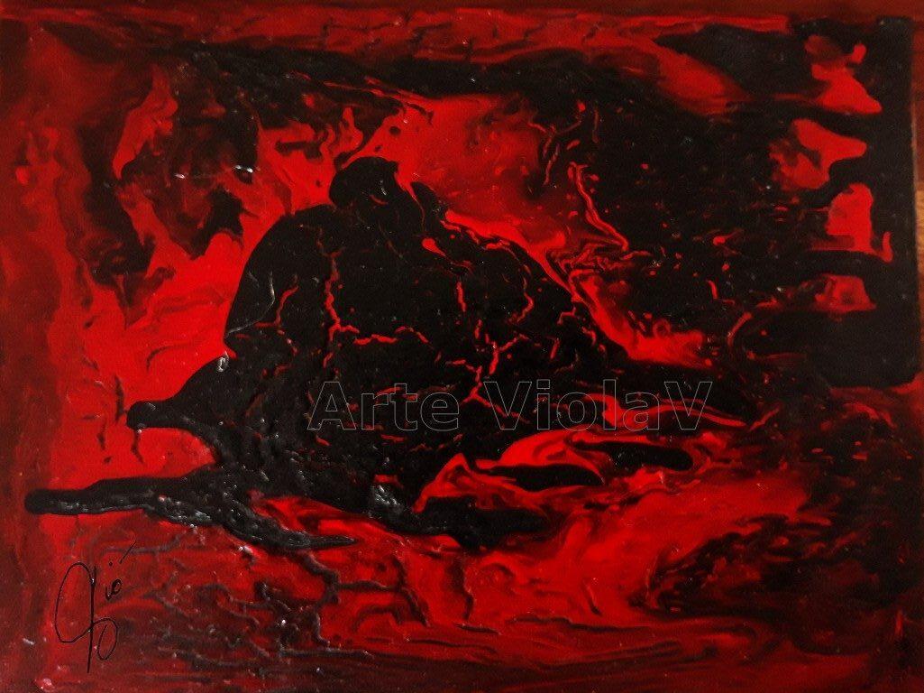 inferno dipinto di Violetta Viola Arte ViolaV