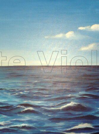mare calmo dipinto di Violetta Viola Arte ViolaV