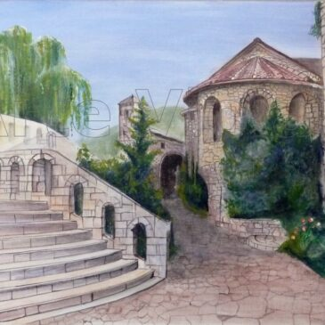 medjugorje dipinto di Violetta Viola Arte ViolaV
