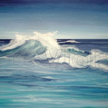 onda1 dipinto di Violetta Viola Arte ViolaV