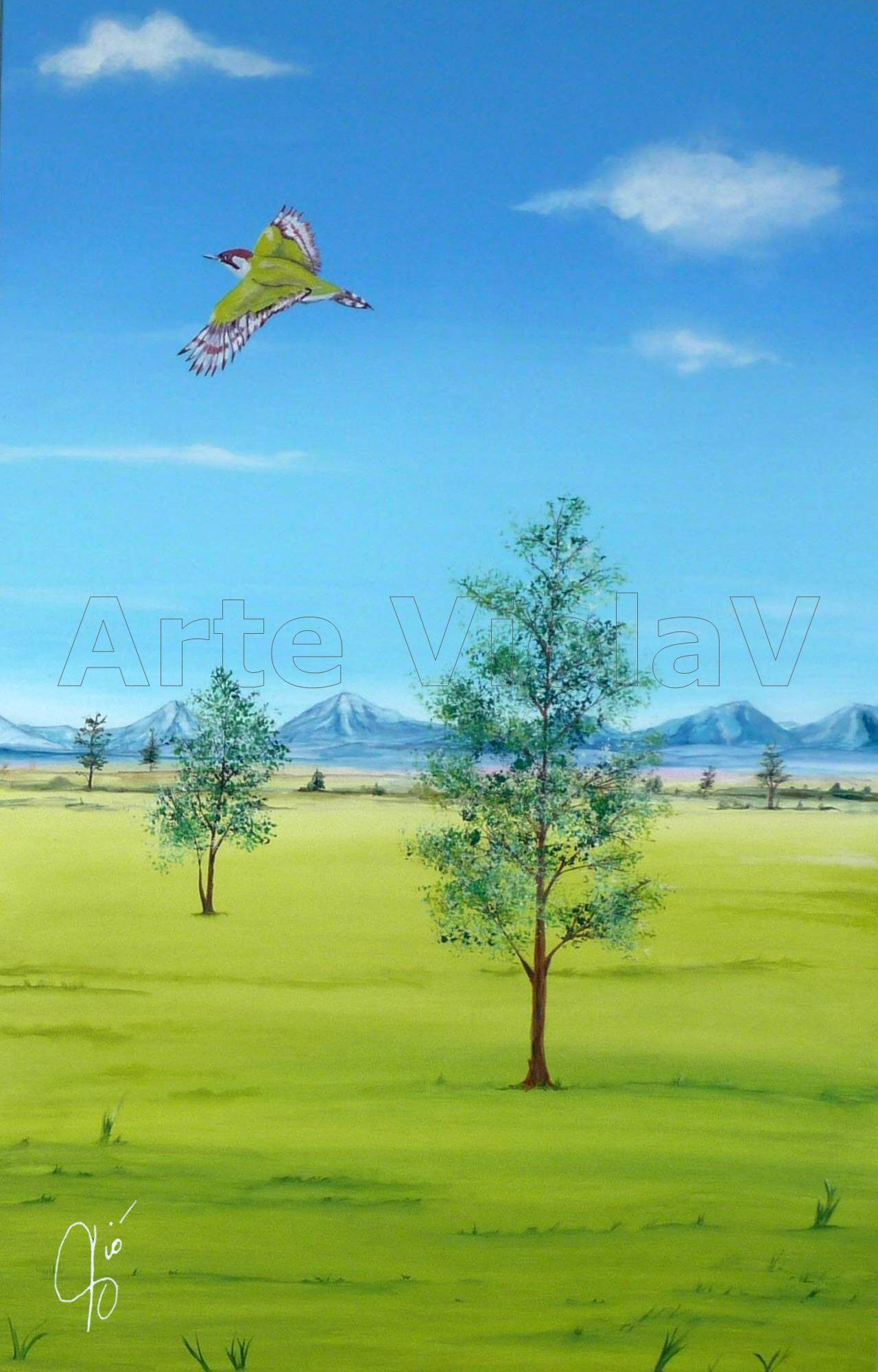 paesaggio di pianura Violetta Viola Arte ViolaV 2