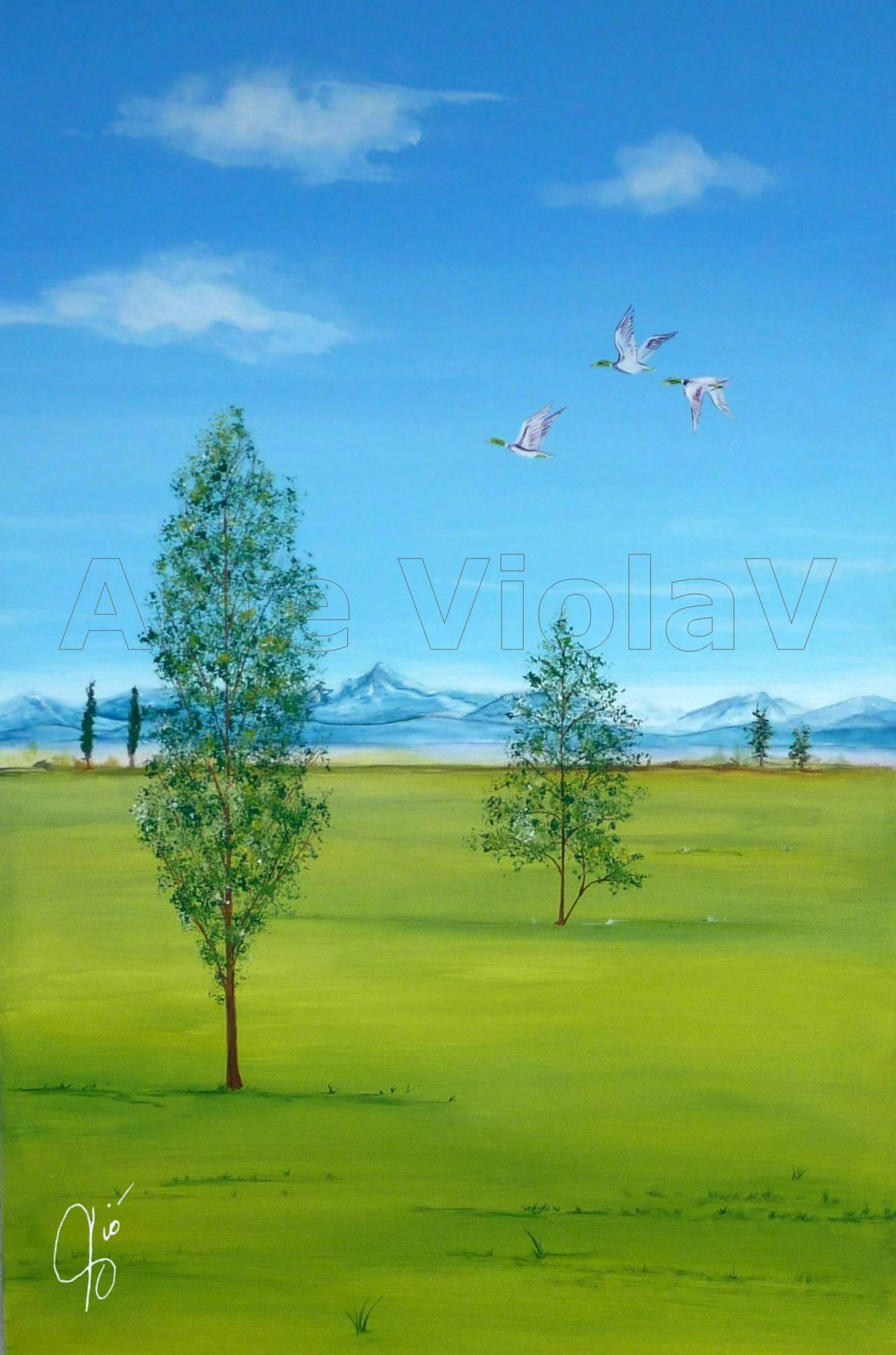 paesaggio di pianura Violetta Viola Arte ViolaV