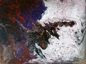 purgatorio dipinto di Violetta Viola arte ViolaV