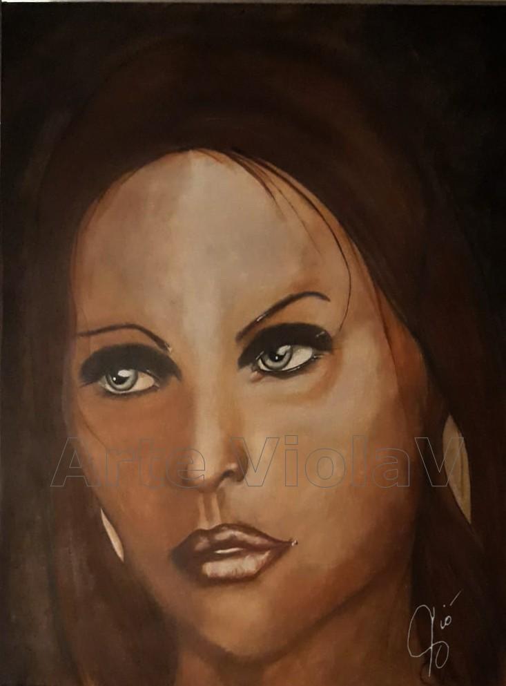 su la maschera dipinto di Violetta Viola Arte ViolaV