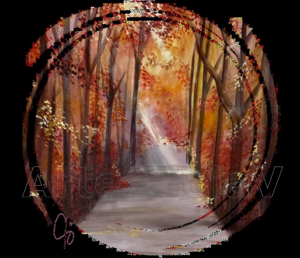 viale alberato (autunno) di violetta viola arte violav logo