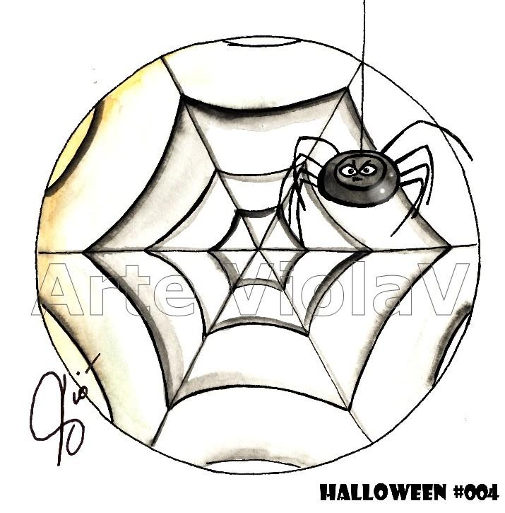 Halloween ragno illustrazioni di Violetta Viola Arte ViolaV