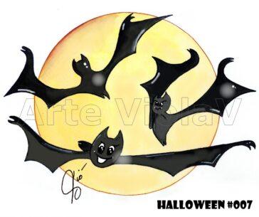 Halloween pipistrelli illustrazioni di Violetta Viola Arte ViolaV