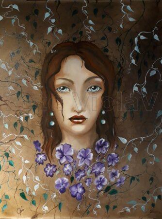 Terra dipinto di Violetta Viola Arte ViolaV