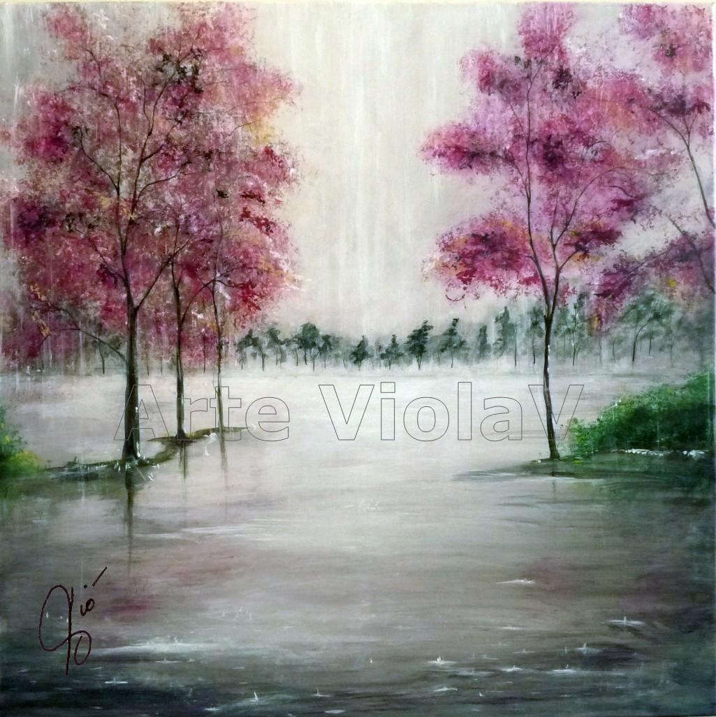 E poi il Nulla dipinto di Violetta Viola Arte ViolaV