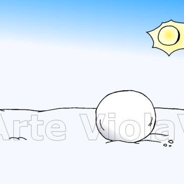pupazzo di neve arte violav (1)