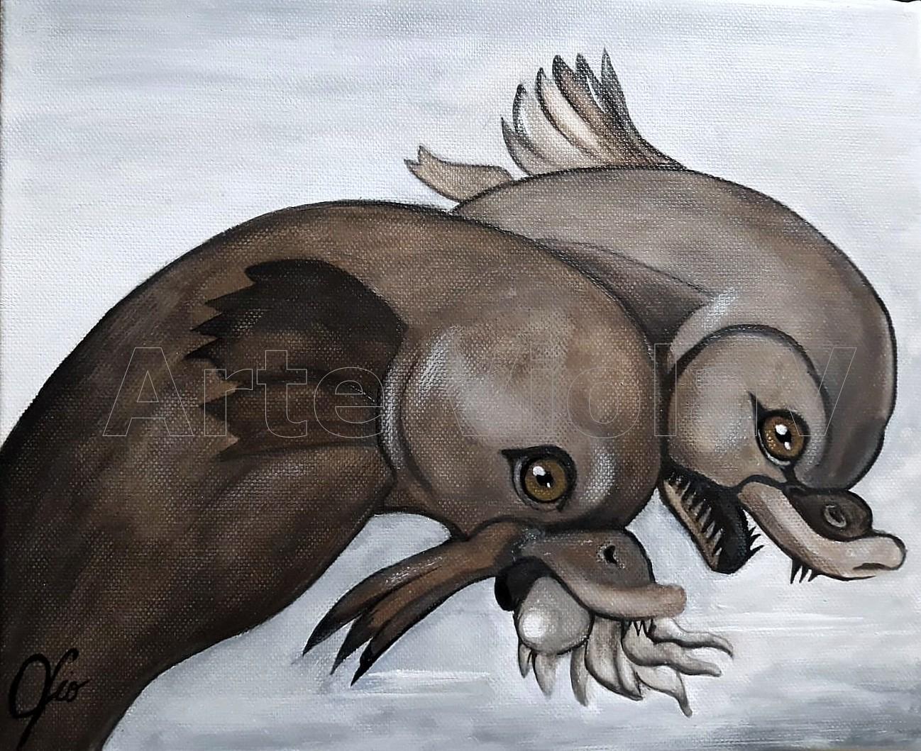 i delfini di Raffaello dipinto di Violetta Viola Arte ViolaV
